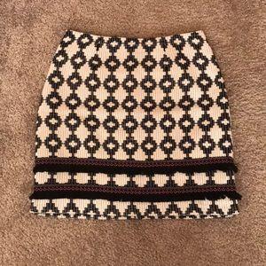 Merona Black &White Mini Skirt